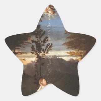 ロレンツォ・ロット著純潔のアレゴリー 星シール