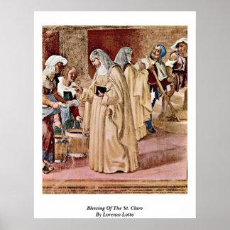 ロレンツォ・ロット著St.ドクレアの天恵 ポスター