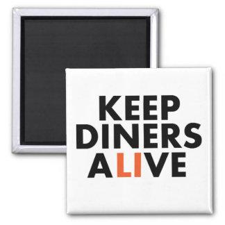 ロングアイランドのダイナーを生きた保って下さい マグネット