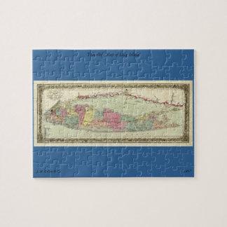 ロングアイランドの歴史的な1855-1857旅行者の地図 ジグソーパズル