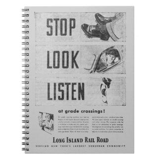 ロングアイランドの鉄道安全写真のノート ノートブック