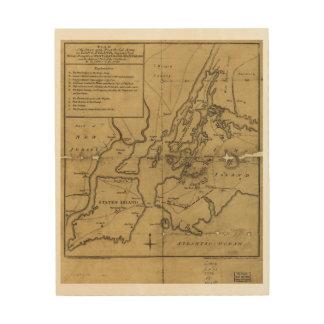 ロングアイランド威厳があるな第27 1776年の攻撃計画 ウッドウォールアート