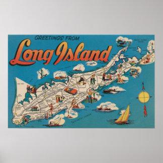 ロングアイランド、ニューヨーク-挨拶からの ポスター