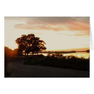 ロングアイランドNYの日没 カード
