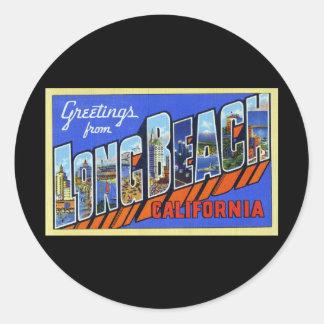ロングビーチカリフォルニアからの挨拶 ラウンドシール