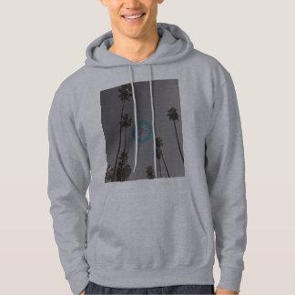 ロングビーチ灰色OSのフード付きスウェットシャツ パーカ