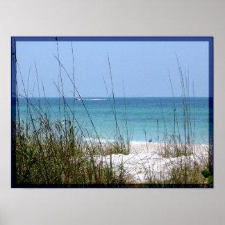 ロングボートのビーチ ポスター
