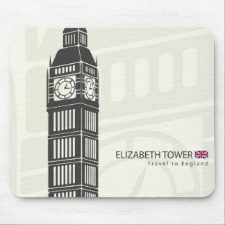 ロンドンのエリザベスタワーの時計ビッグベン マウスパッド