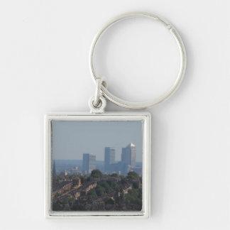 ロンドンのカナリア色の波止場の眺め キーホルダー