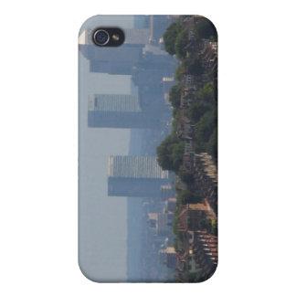 ロンドンのカナリア色の波止場の眺め iPhone 4 カバー