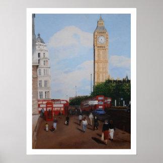 ロンドンのコーナー ポスター