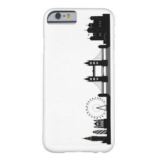 ロンドンのスカイラインのシルエットの電話またはタブレットの箱 BARELY THERE iPhone 6 ケース