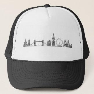 ロンドンのスカイラインのトラック運転手の帽子 キャップ
