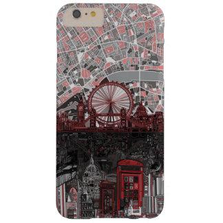 ロンドンのスカイラインの抽象芸術 BARELY THERE iPhone 6 PLUS ケース