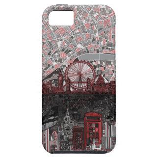 ロンドンのスカイラインの抽象芸術 iPhone SE/5/5s ケース