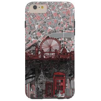 ロンドンのスカイラインの抽象芸術 TOUGH iPhone 6 PLUS ケース