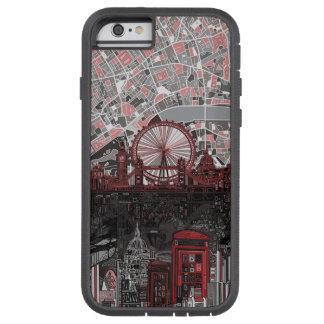 ロンドンのスカイラインの抽象芸術 TOUGH XTREME iPhone 6 ケース