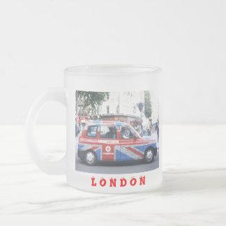 ロンドンのタクシー フロストグラスマグカップ