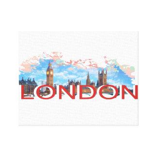 ロンドンのヴィンテージ キャンバスプリント