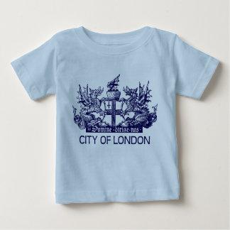 ロンドンのヴィンテージ、紋章付き外衣、イギリスイギリス市 ベビーTシャツ