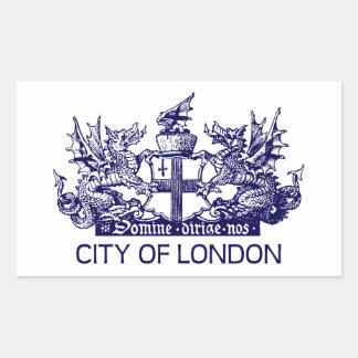 ロンドンのヴィンテージ、紋章付き外衣、イギリスイギリス市 長方形シール
