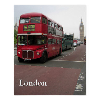 ロンドンの二階建てバス ポスター