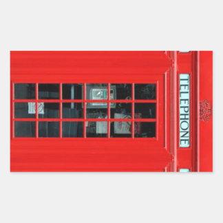 ロンドンの公衆電話ボックスの長方形のステッカー 長方形シール