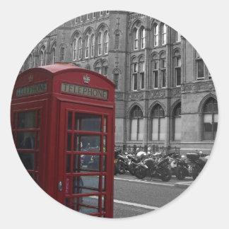 ロンドンの公衆電話ボックス ラウンドシール
