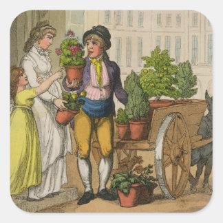 ロンドンの叫び: 庭のポットの販売人1799年(colo スクエアシール