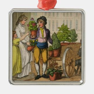 ロンドンの叫び: 庭のポットの販売人1799年(colo メタルオーナメント