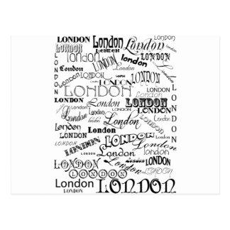 ロンドンの地下鉄の芸術 ポストカード
