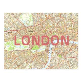 ロンドンの地図カード ポストカード