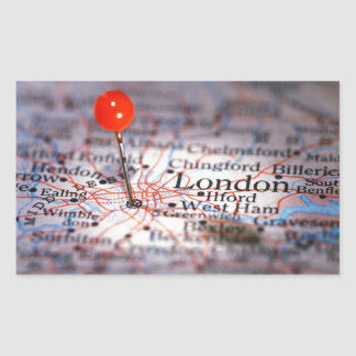 ロンドンの地図 長方形シール