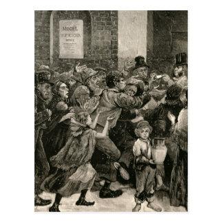 ロンドンの失業者のレリーフ、浮き彫り ポストカード