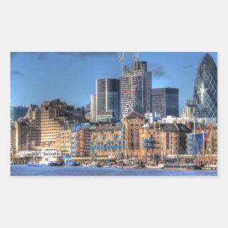 ロンドンの川の意見 長方形シール