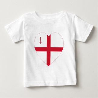 ロンドンの旗のハート ベビーTシャツ