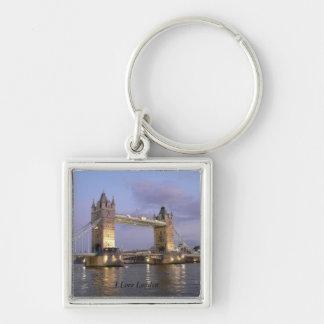 ロンドンの正方形のキーホルダーのタワー橋 キーホルダー