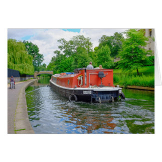 ロンドンの理事の運河のはしけの挨拶状 カード