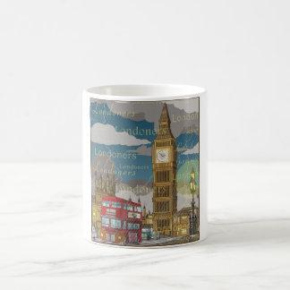 ロンドンの白11のozのクラシックで白いマグ コーヒーマグカップ