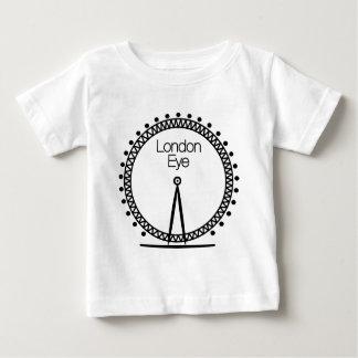 ロンドンの目によって照らされる車輪のシルエット ベビーTシャツ