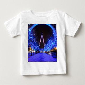 ロンドンの目のクリスマス ベビーTシャツ