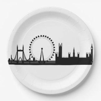 ロンドンの目のスカイラインのテーマのパーティの紙皿 ペーパープレート