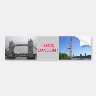 ロンドンの目の観覧車が付いているバンパーステッカー バンパーステッカー
