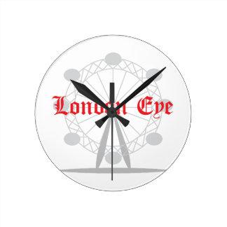 ロンドンの目 ラウンド壁時計
