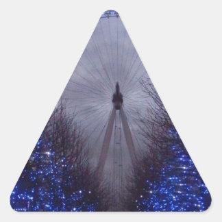 ロンドンの目 三角形シール