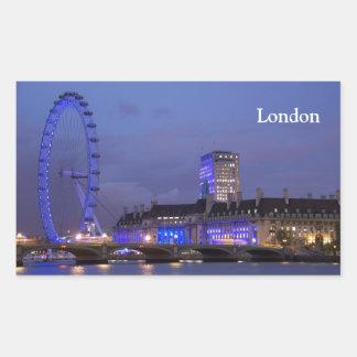 ロンドンの目 長方形シール