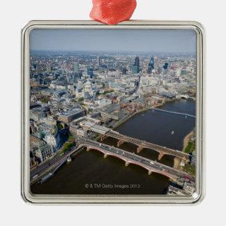 ロンドンの空中写真 メタルオーナメント