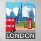 ロンドンの芸術のプリントレトロ旅行鉄道ポスター ポスター