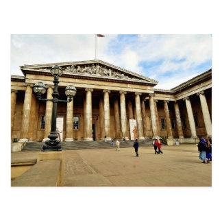 ロンドンの英語の大英博物館への正面玄関 ポストカード