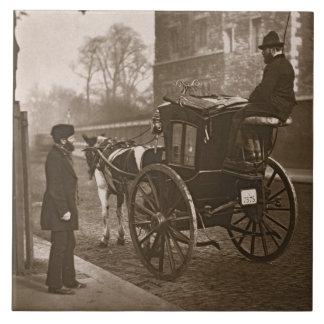 「ロンドンの街の生活」からのロンドンのCabmen、1877- タイル